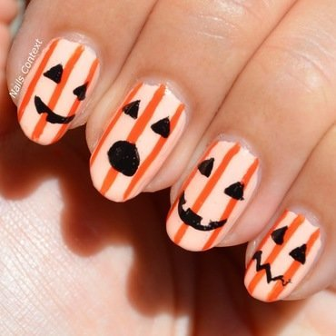 Jack-O-Lanterns nail art by NailsContext