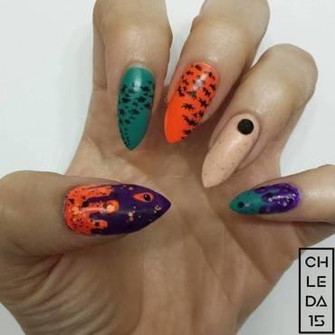 Bloodcurdling Bats nail art by chleda15