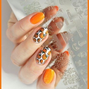 Pumpkins nail art by ELIZA OK-W