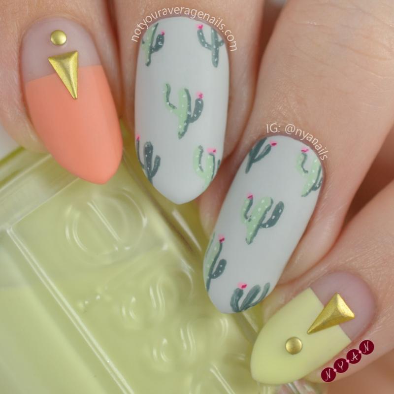 Cool Cacti nail art by Becca (nyanails)