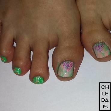 Vivid V's nail art by chleda15