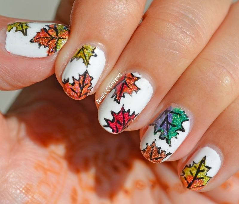 Autumn Vibes nail art by NailsContext