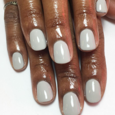 Gray nail art by Kristen Lovett