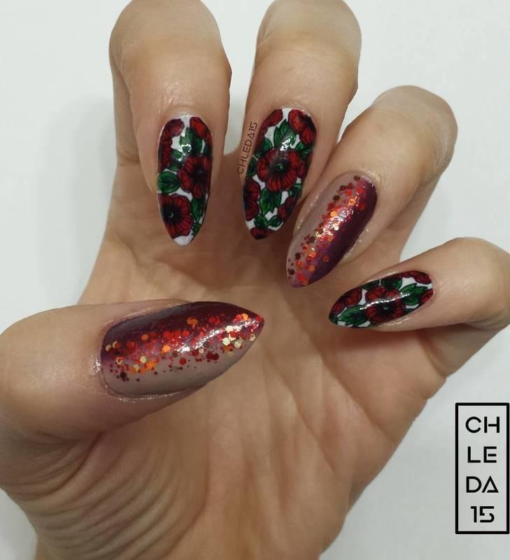 Poppy Fields nail art by chleda15