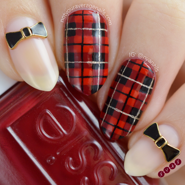 Dress to Kilt nail art by Becca (nyanails)