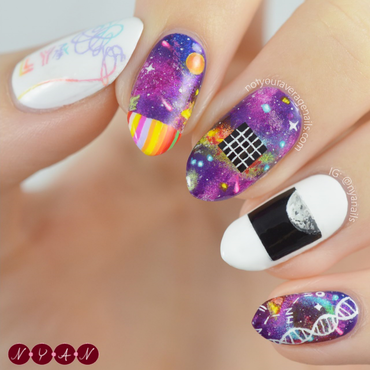 DNA nail art by Becca (nyanails)
