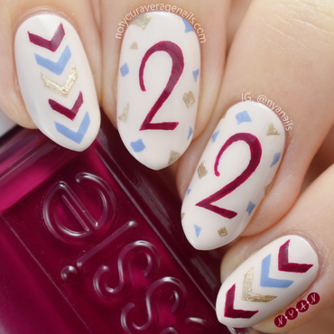 I'm Feeling 22 nail art by Becca (nyanails)