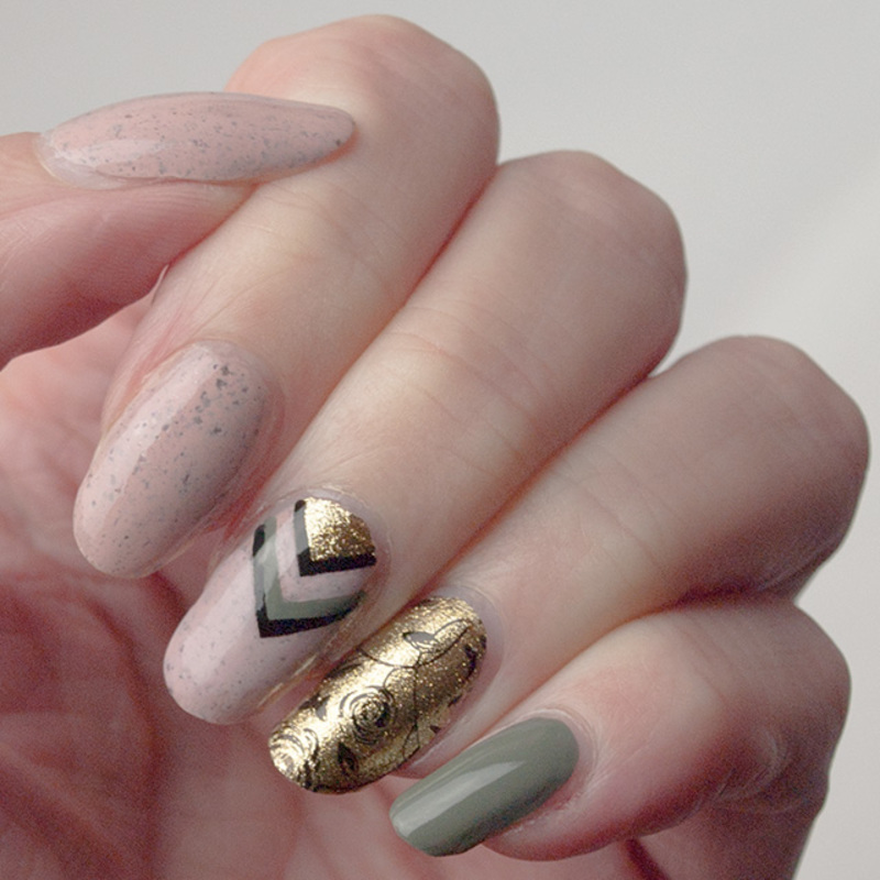 Dusty chevrons nail art by What's on my nails today?