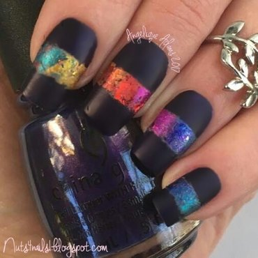 Crown for Whatever nail art by Angelique Adams