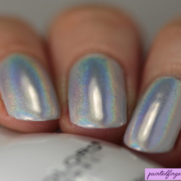 Angled holo powder nails thumb370f