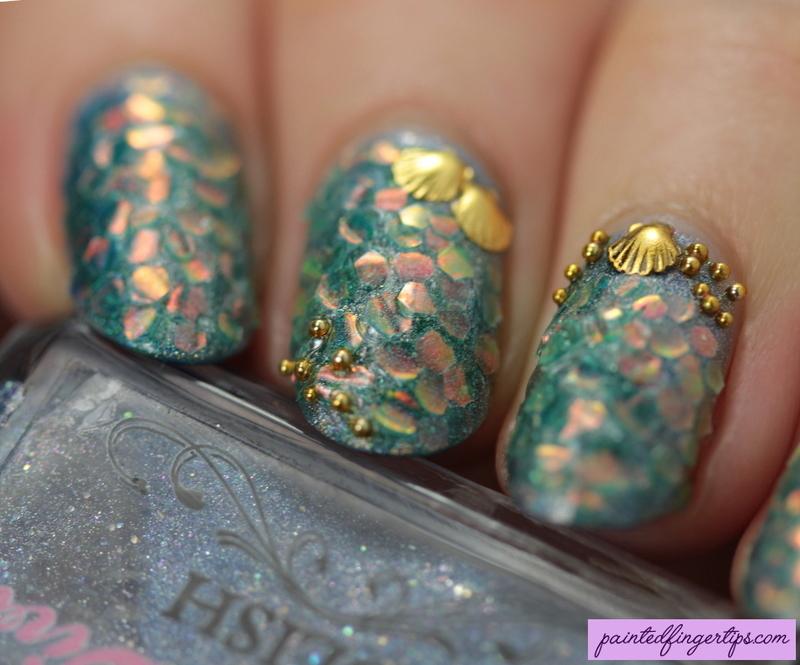 Mermaid Nails nail art by Kerry_Fingertips