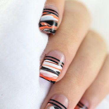 Halloween marble nail art by Marine Loves Polish