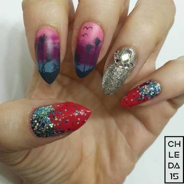 Cali Love nail art by chleda15