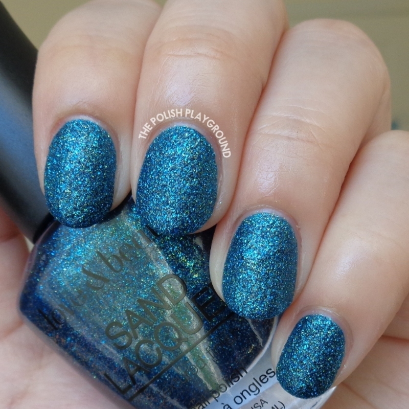 Love & Beauty Sand Lacquer Blue Jewel Swatch by Lisa N