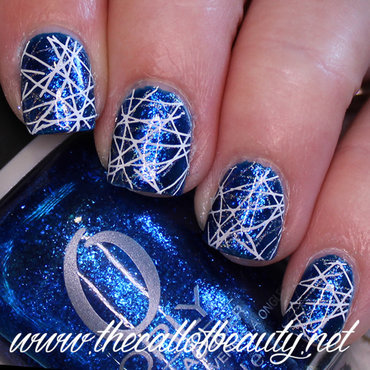 Blue Double Stamping nail art by The Call of Beauty