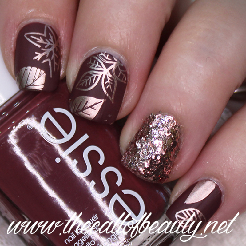 Rose Gold Fall Manicure nail art by The Call of Beauty