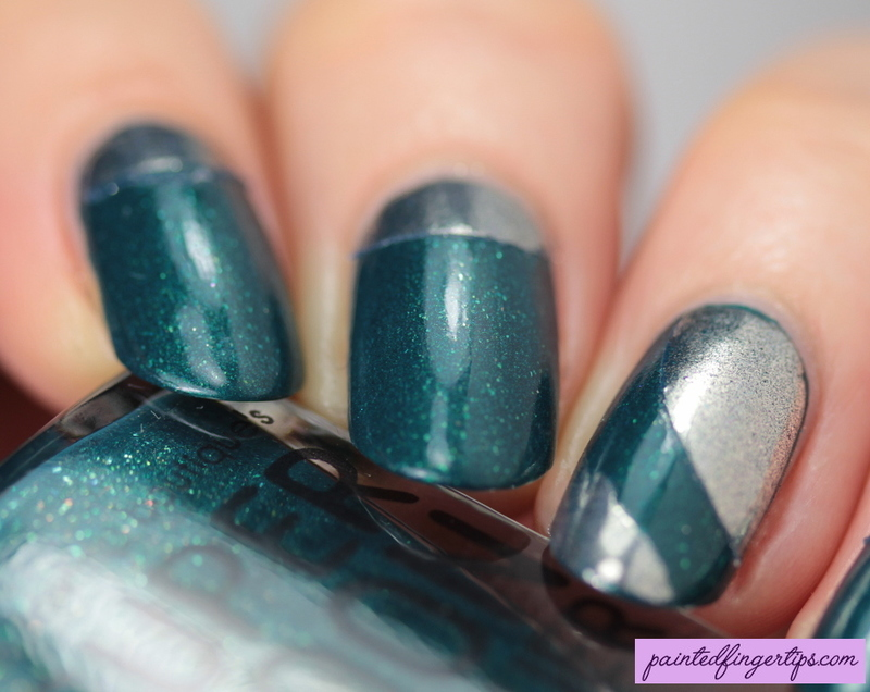 Chrome halfmoons nail art by Kerry_Fingertips
