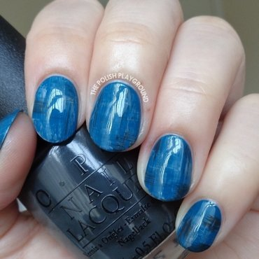 Blue and Grey Dry Brush Nail Art nail art by Lisa N