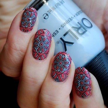 Mandala  nail art by Yasinisi