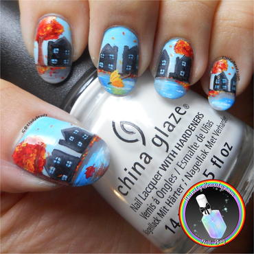 Autumn Showers nail art by Ithfifi Williams