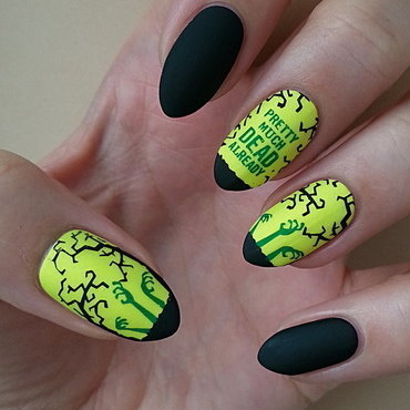 Zombies - #clairestelle8halloween Challenge nail art by Mgielka M