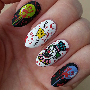 Creepy Carnival - #clairestelle8halloween Challenge nail art by Mgielka M