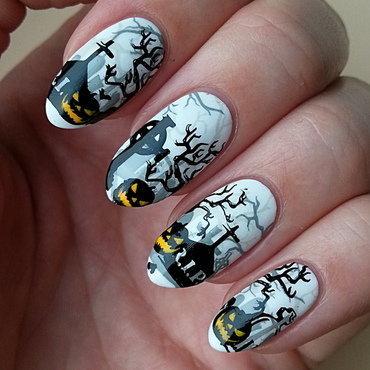 Pumpkins - #clairestelle8halloween Challenge nail art by Mgielka M