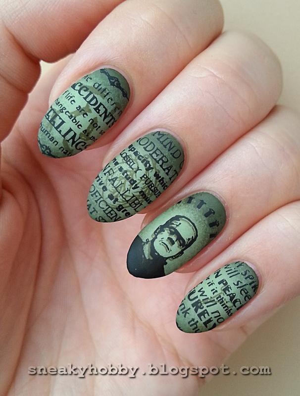 Fave Halloween Movie - #clairestelle8halloween Challenge nail art by Mgielka M