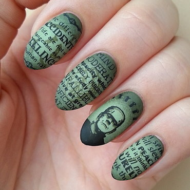 Fave Halloween Movie - #clairestelle8halloween Challenge nail art by Mgielka M
