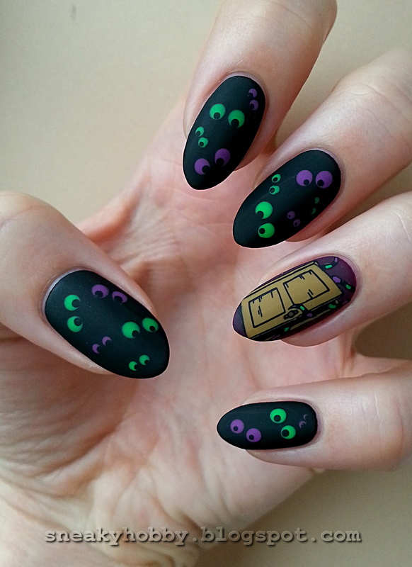 Monsters - #clairestelle8halloween Challenge nail art by Mgielka M
