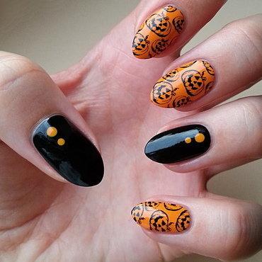Halloween - #clairestelle8halloween Challenge nail art by Mgielka M