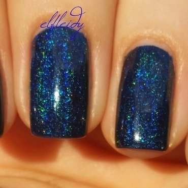 KBShimmer Shoe the Blues Away Swatch by Jenette Maitland-Tomblin