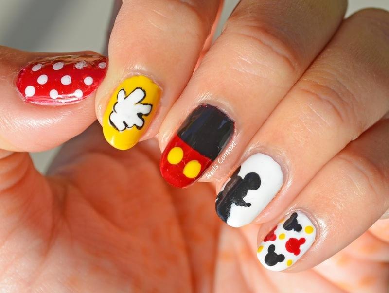 Mickey Mouse Nails  nail art by NailsContext