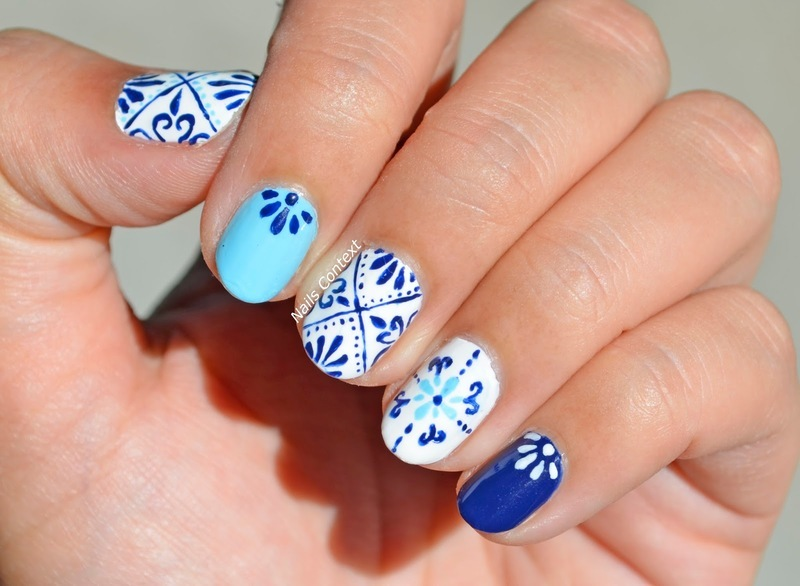 Moroccan Tiles Design nail art by NailsContext