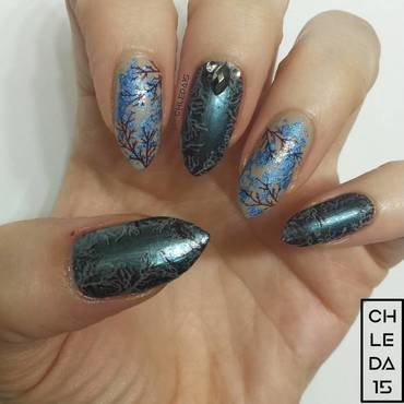 Bare Naked Branches nail art by chleda15