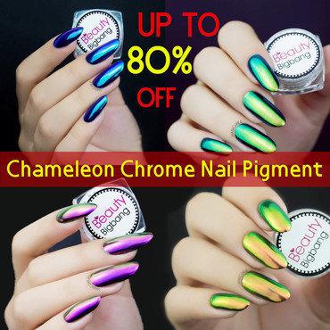chameleon chrome nails nail art by beautybigbang