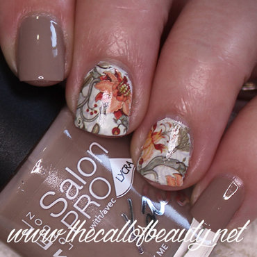 Neutral Fall nail art by The Call of Beauty