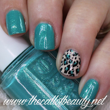 Animal Print in Turquoise nail art by The Call of Beauty