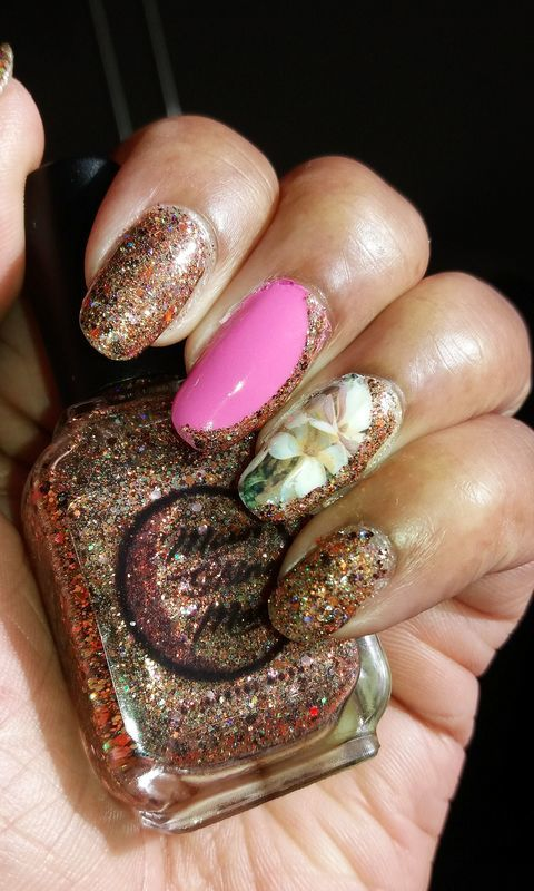 Glittery Fun nail art by Jackie Bodick