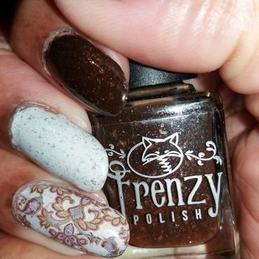 Fireside Therapy nail art by Jackie Bodick