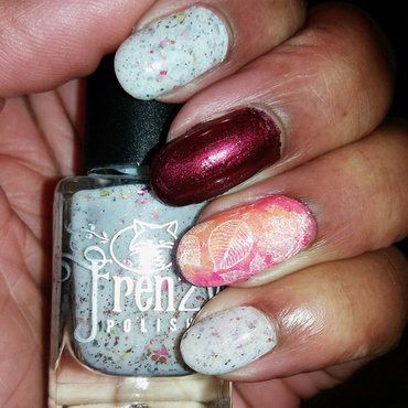 Falling Leaves nail art by Jackie Bodick