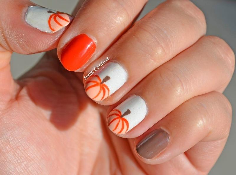 Pumpkin Nails nail art by NailsContext