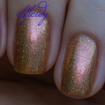 Zoya Courtney and Girly Bits Butterbeer Latte Swatch by Jenette Maitland-Tomblin