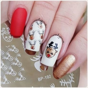 Christmas nails nail art by beautybigbang