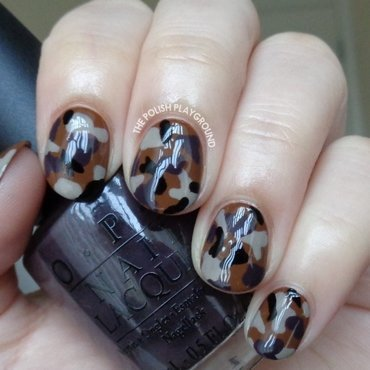 Neutral Colored Camouflage Nail Art nail art by Lisa N