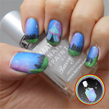 Midnight Circus nail art by Ithfifi Williams
