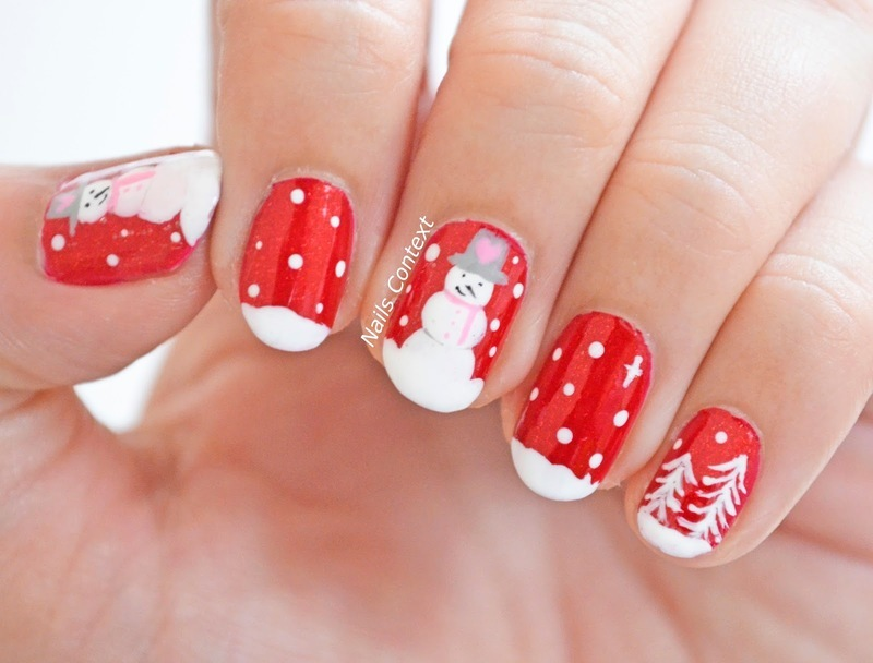 Do you wanna build a snowman nail art by NailsContext
