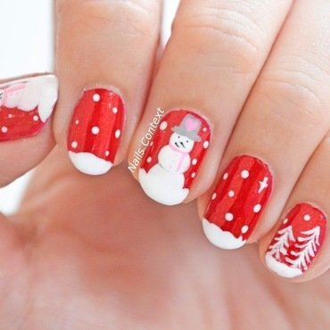 Do you wanna build a snowman nail art by NailsContext