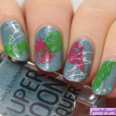 Party monarch feather stamping thumb370f