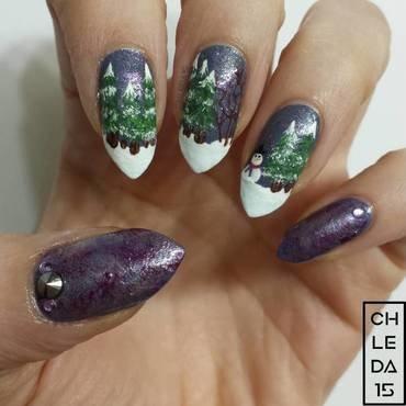 One Dapper Snowman nail art by chleda15